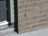 Voegrooster kunststof zwart 5cm hoog_