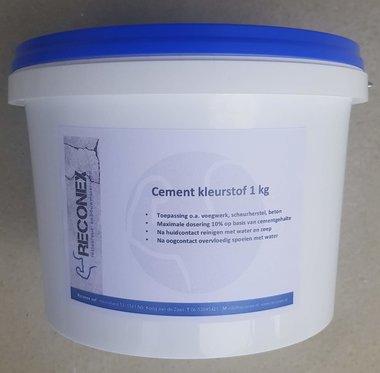 Cement kleurstof zwart pot á 1 kg