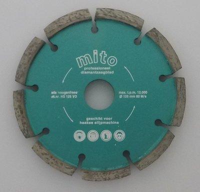 Voegenfrees 125 x 9,4 mm