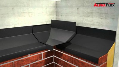AlphaFlex Basic loodvervanger 250 mm rol à 10 m kleur zwart