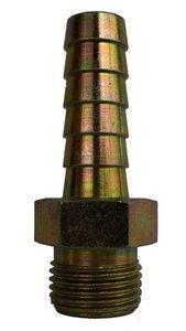 Slangtule 1/4bux 10mm staal vernikkeld